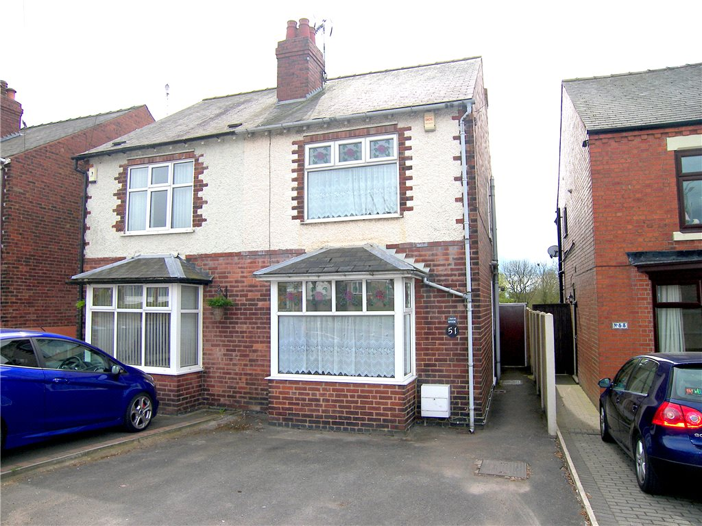 3 Bedrooms Semi Detached House for sale in Crays Hill, Swanwick, Alfreton, Derbyshire, DE55