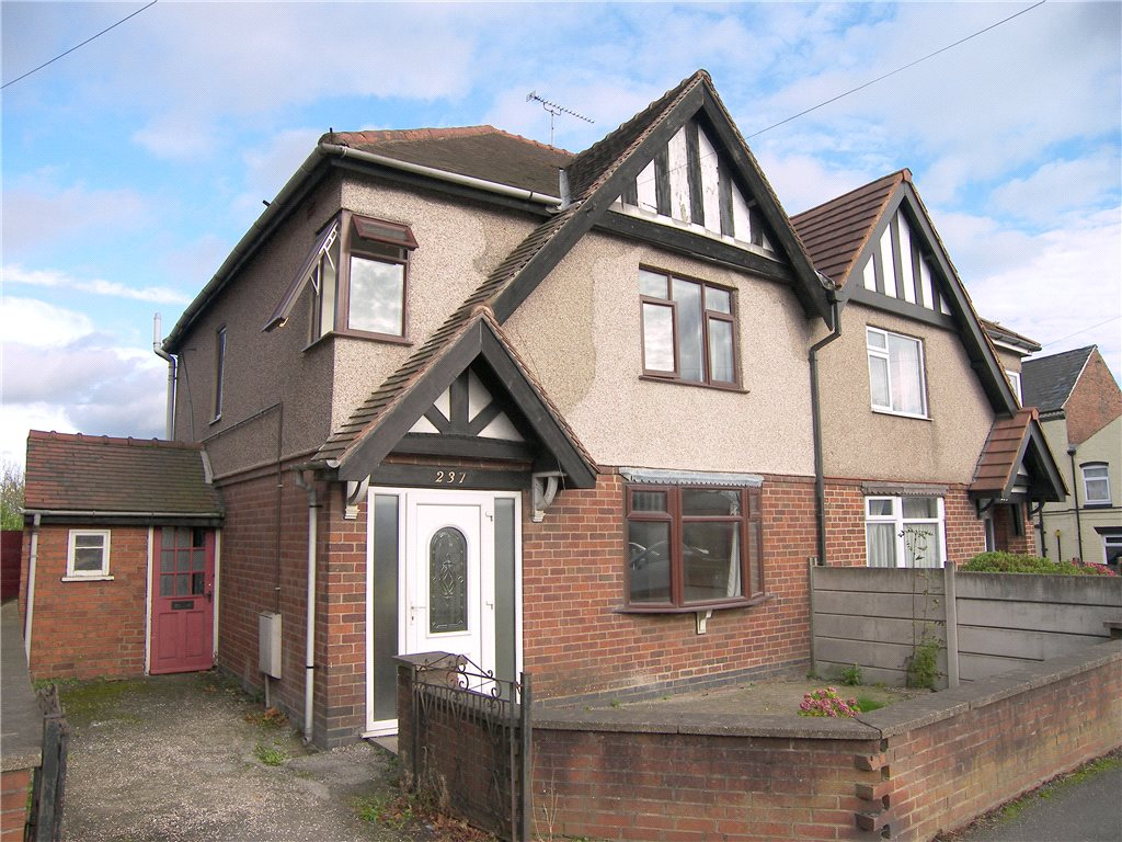 3 Bedrooms Semi Detached House for sale in Nottingham Road, Somercotes, Alfreton, Derbyshire, DE55