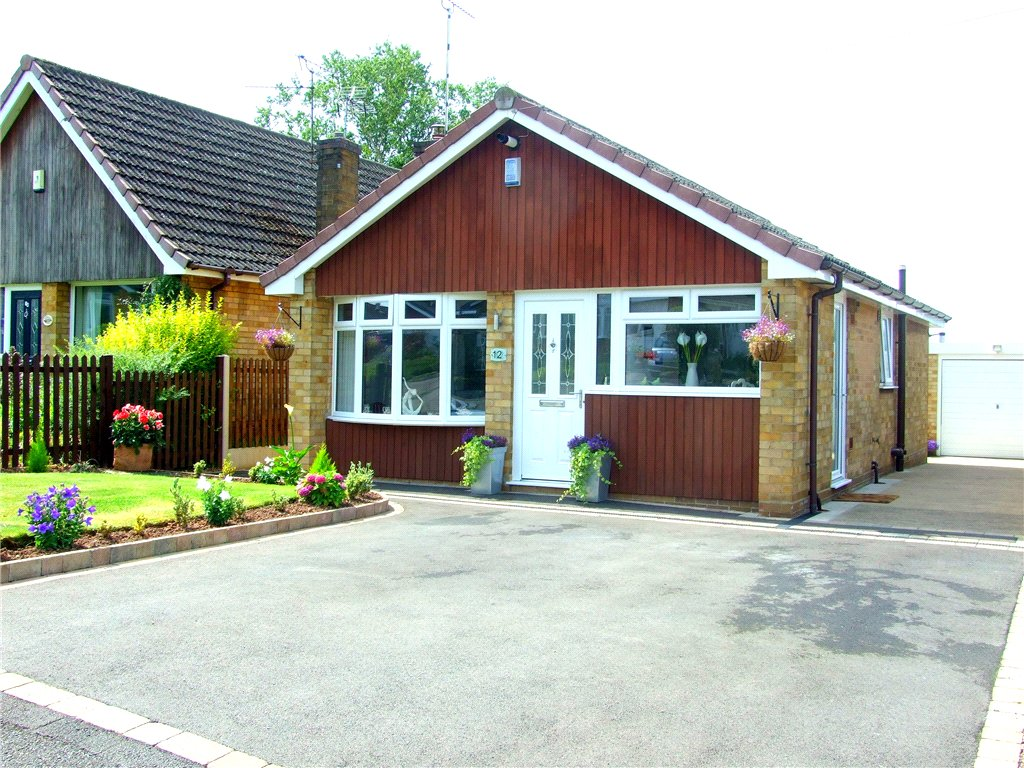 2 Bedrooms Detached Bungalow for sale in Calder Close, Allestree, Derby, Derbyshire, DE22