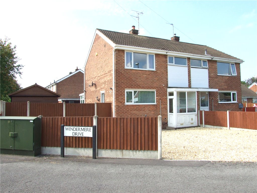 3 Bedrooms Semi Detached House for sale in Windermere Drive, Spondon, Derby, Derbyshire, DE21